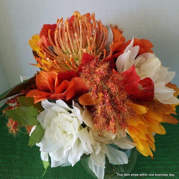 Handmade Other - Orange Protea Bouquet Centerpiece